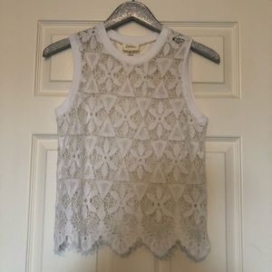 Anthropologie Deletta | Lace See Through Tank Top